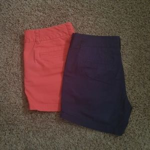 J crew Chino shorts lot of 2 size 6